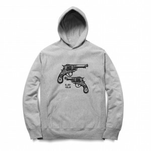 Moletom Long Beach Gun Cinza