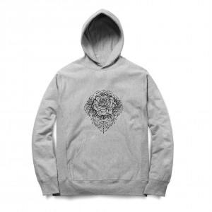 Moletom Long Beach Flower Cinza