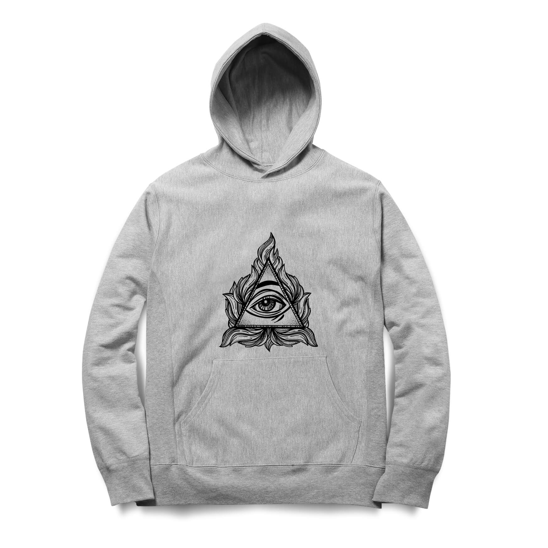 Moletom Long Beach Eye Pyramid Cinza