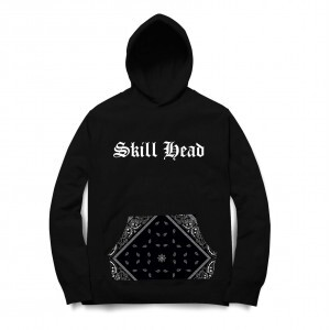 Moletom Skill Head Black Bandana Preto
