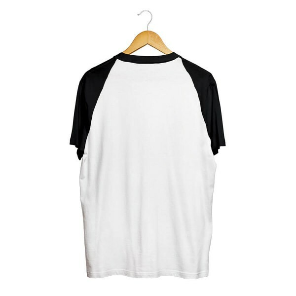 Camiseta BSC Raglan Leaf Pocket Branco/Preto