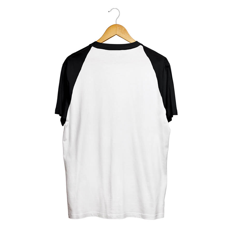 Camiseta BSC Raglan Dark Flower Pocket Branco/Preto