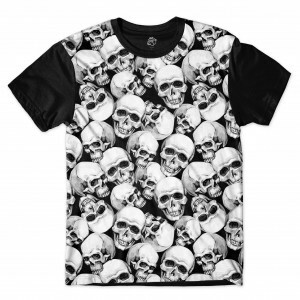 Camiseta BSC Sea Skull Sublimada Preto