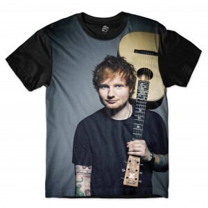 Camiseta BSC Ed Sheeran Guitar Full Print Preto