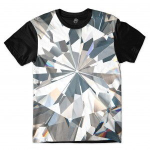 Camiseta BSC Full Diamonds Full Print Preto