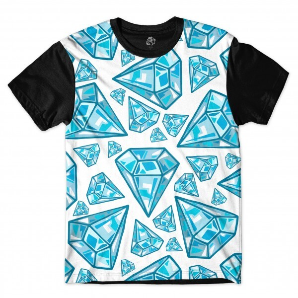 Camiseta BSC Blue Diamonds Full Print Preto