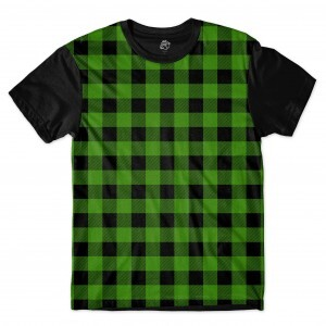 Camiseta BSC Chess Sublimada Preto/Verde