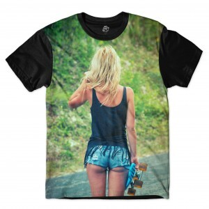 Camiseta BSC Girl Shorts Sublimada Preto