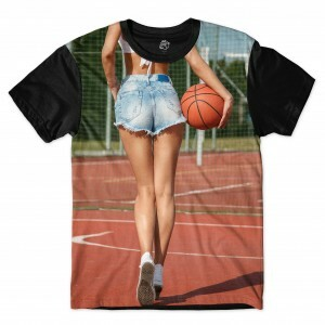 Camiseta BSC Basket Girl Full Print Preto
