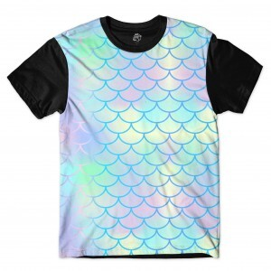 Camiseta BSC Scale Mermaid Sublimada Preto
