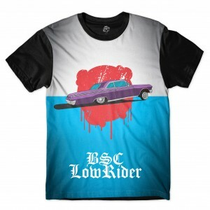 Camiseta BSC Lowrider Blood Sublimada Preto