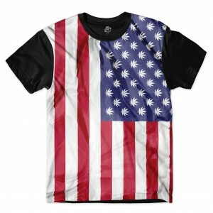 Camiseta BSC USA Flag Full Print Preto