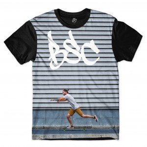 Camiseta BSC Boy Skateboard Sublimada Preto