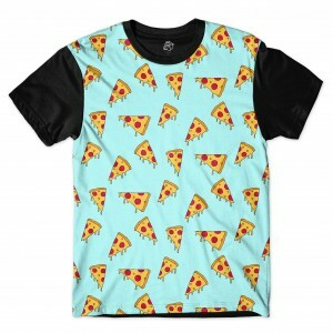 Camiseta BSC Mini Pizza Full Print Preto