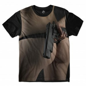 Camiseta BSC Hidden Weapon Full Print Preto
