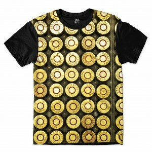 Camiseta BSC Golden Bullets Full Print Preto