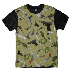 Camiseta BSC Weaponry Full Print Preto