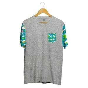 Camiseta BSC Drugz Pocket Sublimada Cinza/Verde