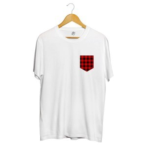 Camiseta BSC Xadrez Pocket Full Print Branco