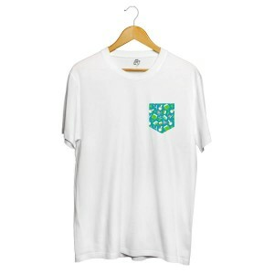 Camiseta BSC Drugz Pocket Sublimada Branco