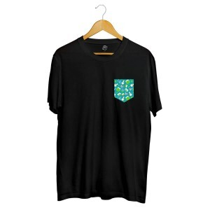 Camiseta BSC Drugz Pocket Full Print Preto