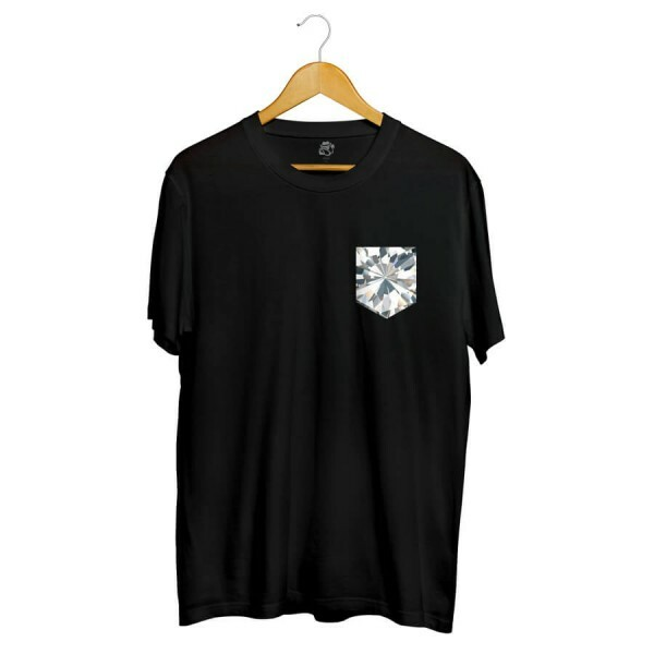 Camiseta BSC Full Diamonds Pocket Full Print Preto