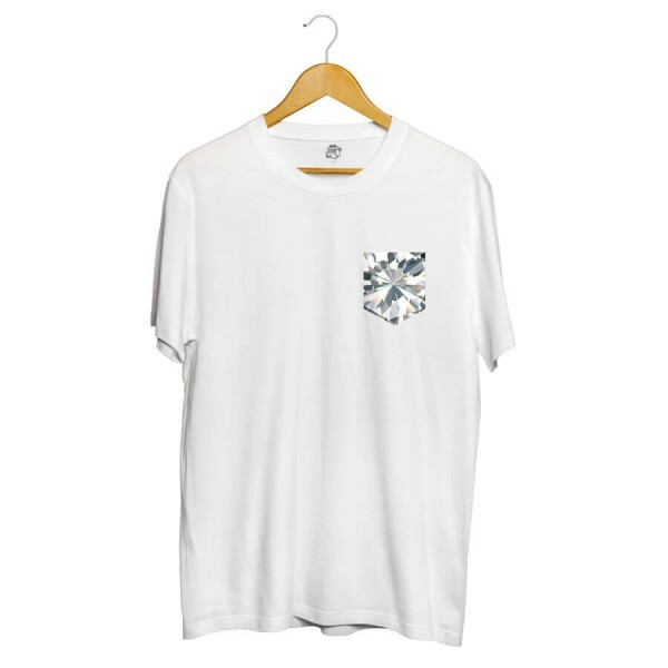 Camiseta BSC Full Diamonds Pocket Sublimada Branco