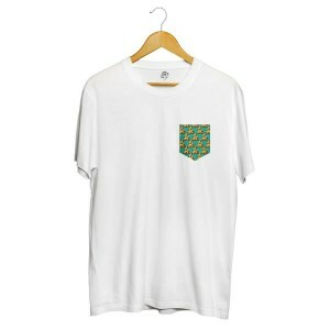 Camiseta BSC Pizza POA Pocket Full Print Branco