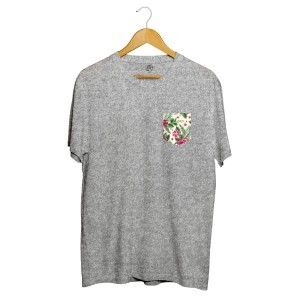 Camiseta BSC Flower Tropicano Pocket Sublimada Cinza