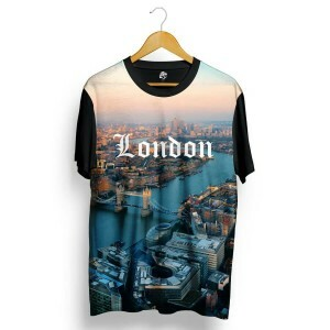 Camiseta BSC London Full Print Preto