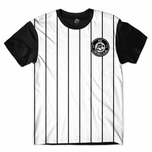 Camiseta BSC Football Club Sublimada Branco/Preto