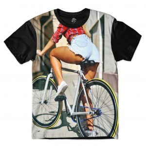 Camiseta BSC Blonde Cyclist Full Print Preto