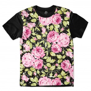 Camiseta BSC Raindrop Flower Sublimada Preto