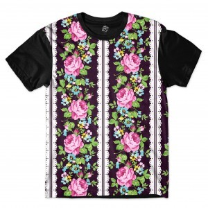 Camiseta BSC Flower Band Sublimada Preto