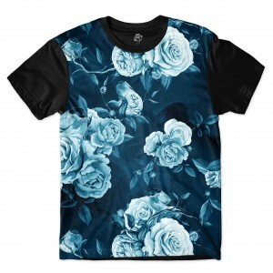 Camiseta BSC Blue Rose Full Print Preto