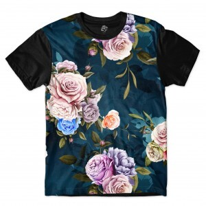 Camiseta BSC Camouflaged flower Sublimada Preto