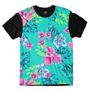 Camiseta BSC Flower Plants Full Print Preto