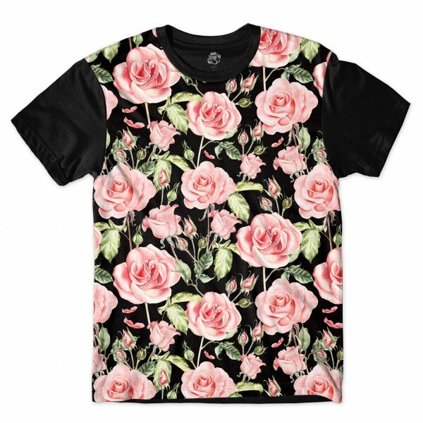 Camiseta BSC To Bloom Full Print Preto