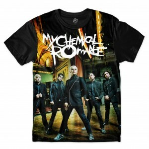 Camiseta BSC My Chemical Romance Full Print Preto