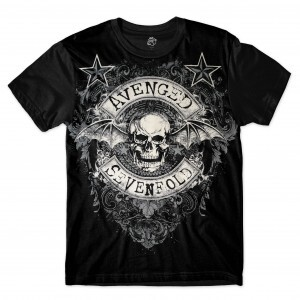 Camiseta BSC Avenged Sevenfold Sublimada Preto