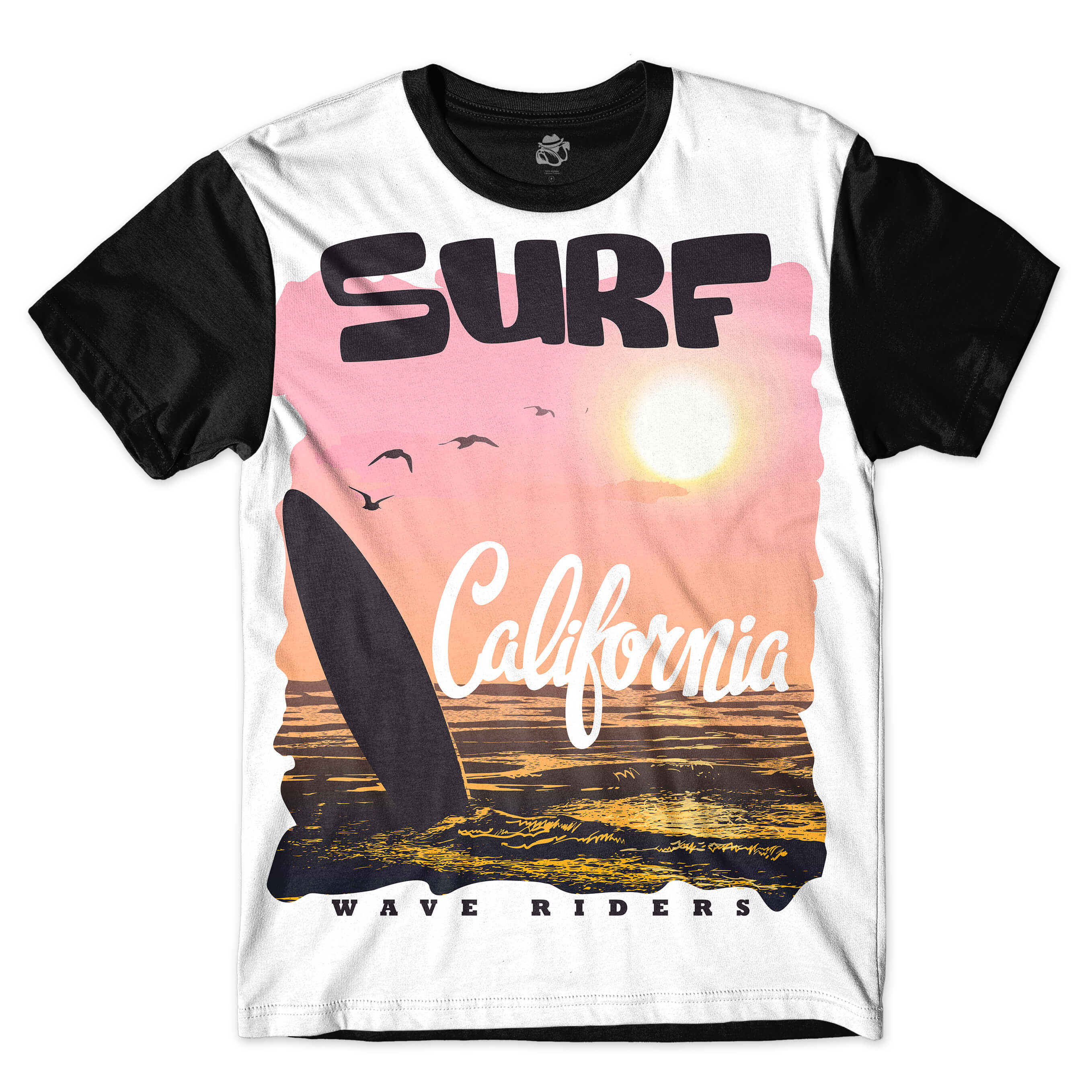 Camiseta BSC Wave Riders Sublimada Preto