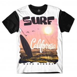 Camiseta BSC Wave Riders Full Print Preto