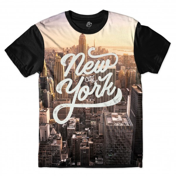 Camiseta BSC New York Sunset Full Print Preto