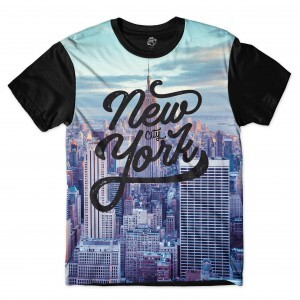 Camiseta BSC New York Buildings Sublimada Preto