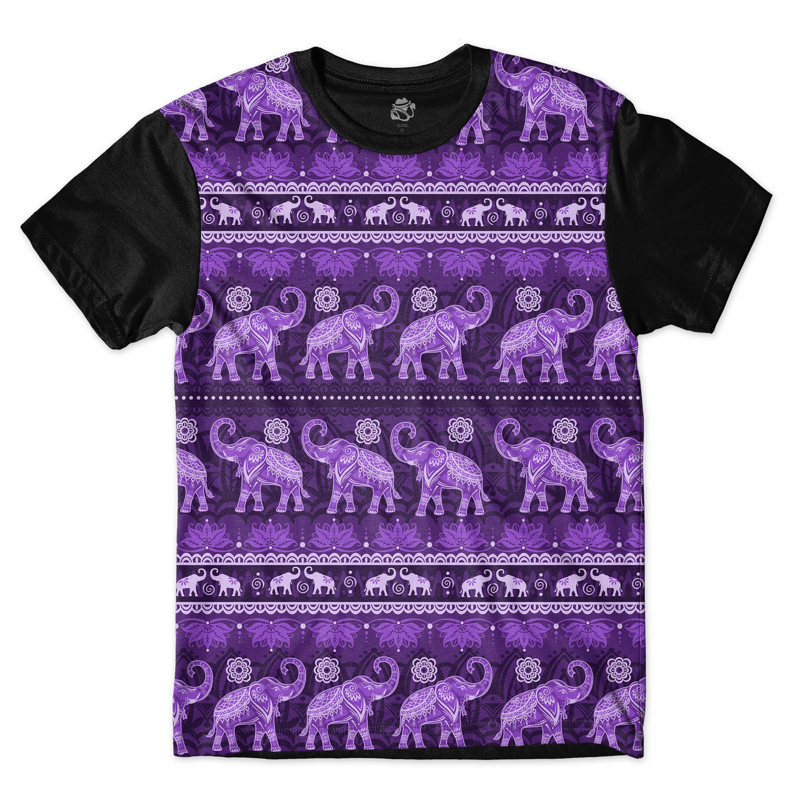 Camiseta BSC Indian Culture Full Print Preto/Roxo