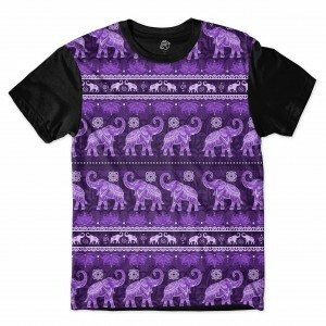 Camiseta BSC Indian Culture Sublimada Preto/Roxo