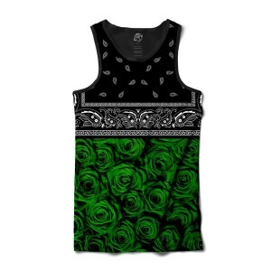 Camiseta BSC Regata Green Rose Bandana Sublimada Preto/Verde