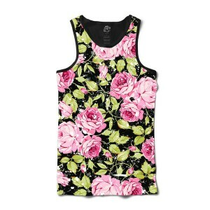 Camiseta BSC Regata Raindrop Flower Full Print Preto