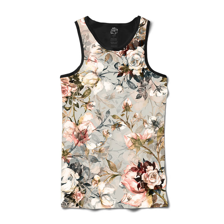 Camiseta BSC Regata Flower Photo Full Print Preto