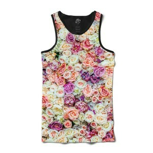 Camiseta BSC Regata Multicolored Flower Full Print Preto